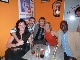 Miriam, David, Pablo, Clio y Pap