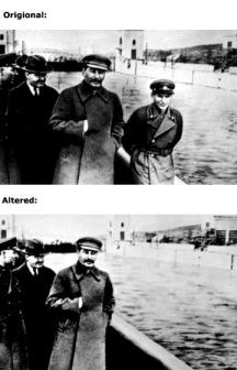 El comisionado del transporte de agua de la Unión Soviética fue eliminado por Stalin de la foto y de la faz de la tierra.