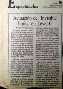Invisible Limits en Level 0 Prensa