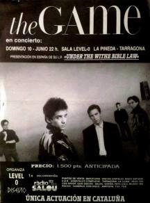 The Game en Level 0 Cartel 22 de junio 1990