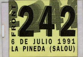 Front 242 en Level 0 Entrada 6 de julio 1991