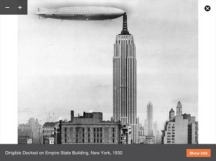 Dirigible en el Empire State Building