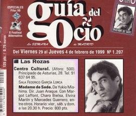 Madame de Sade, dirección Juan Araque, en Guia del Ocio 1999