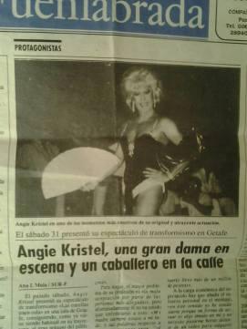 """Angy Kristel. y su espectáculo """"Las Estrellas Traen Cola"""" en el periódico Fuenlabrada."""