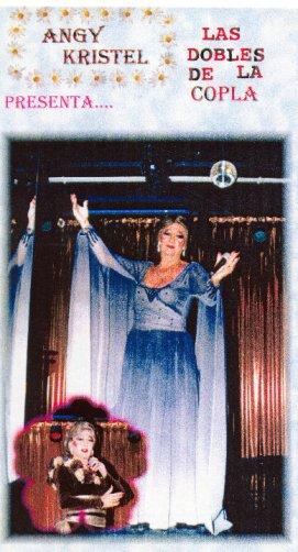 """Angy Kristel. en el cartel de """"Las Dobles de la copla""""."""