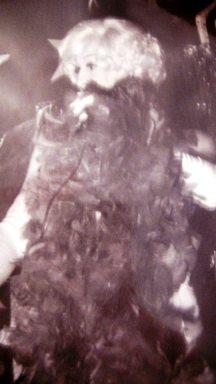 Angy Kristel haciendo de Marilyn Monroe, en 1978 en el Club Larra de Madrid.