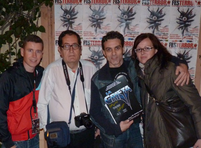 De izquierda a derecha: Robert Ramos Cata, Salvador Sainz, David Martín Surroca y Miriam García