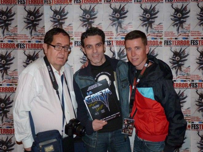 De izquierda a derecha: Salvador Sainz, David Martín Surroca y Robert Ramos Cata