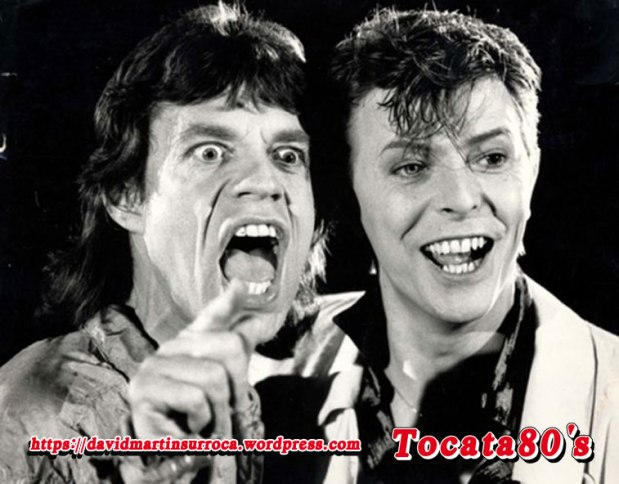 "David Bowie y Mick Jagger ""Dancing in the street"""