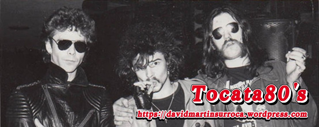 De izquierda a derecha: Eddie Clarke, Phil Taylor y Motörhead Lemmy Kilmister