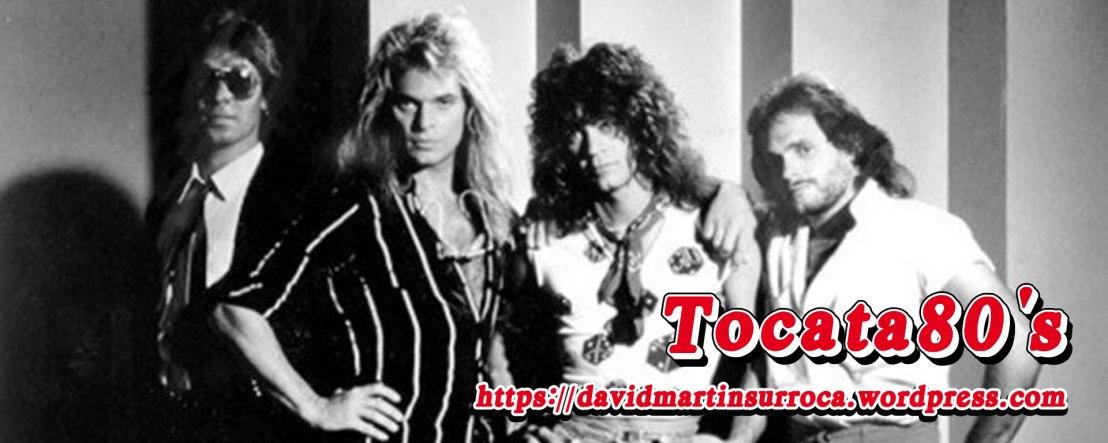 De izquierda a derecha: Alex Van Halen, David Lee Roth, Eddie Van Halen y Michael Anthony