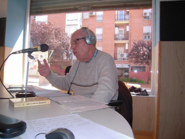 """Entrevista a David Martín Surroca por Miguel Ángel Cáceres para el programa """"La Esfera Cultural"""" de la emisora de radioGetafeVOZ"""