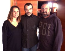Con la actriz Eva Santolaria y el director Pau Freixas