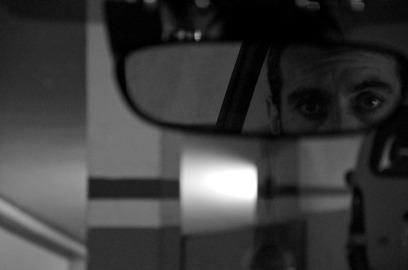 David Martín Surroca en el reflejo del retrovisor