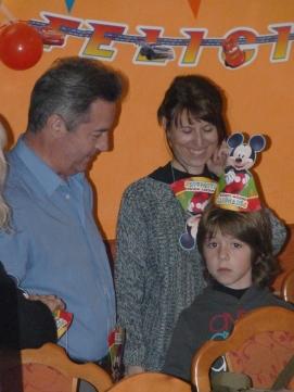 Ramón Piquè (Nuevo novio de María), Maribel Venteo (María, mi ex mujer) y Miquel (Toni, mi hijo)