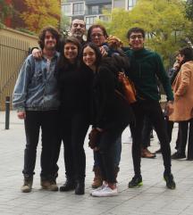 Con Pascual Sola, Marta Fuentes Ferrer, Beatriz Carvajal, Miriam García, Atila y Edoardo Alejandro González