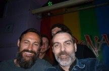 Con Jordi, Carlos y Sergio