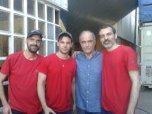 Con Sergi Saéz González y los actores Carlos Cuevas y Francesc Orella