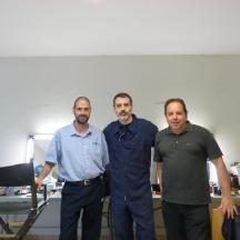 Con Sergi Saéz González y David