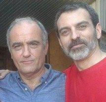 Con el actor Francesc Orella