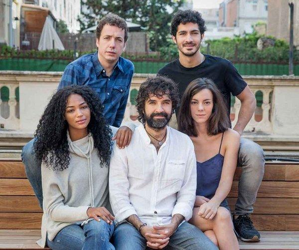Vito Sanz, Chino Darín, Berta Vázquez, Mateo Gil y Vicky Luengo