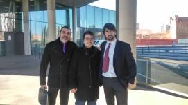 Con el director Guillermo Gastó Barrot y Nico Melendi
