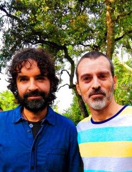 El director Mateo Gil y David Martín Surroca. FOTO DE FRANCESC SUCH GOMAR