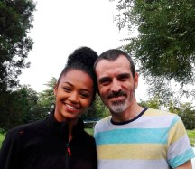 La actriz Berta Vázquez y David Martín Surroca. FOTO DE FRANCESC SUCH GOMAR