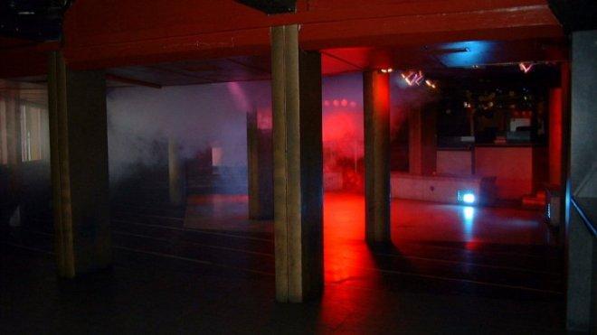 El techo bajo y las columnas metálicas que definían el local. | CEDIDA