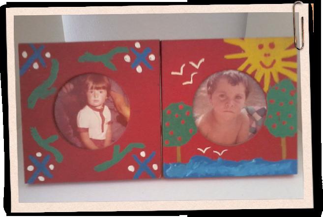 A día de hoy Miriam García una compañera de la escuela, es mi pareja sentimental y casualmente, tanto ella como yo conservamos estos cuadros, una de las manualidades que hicimos en el cole.