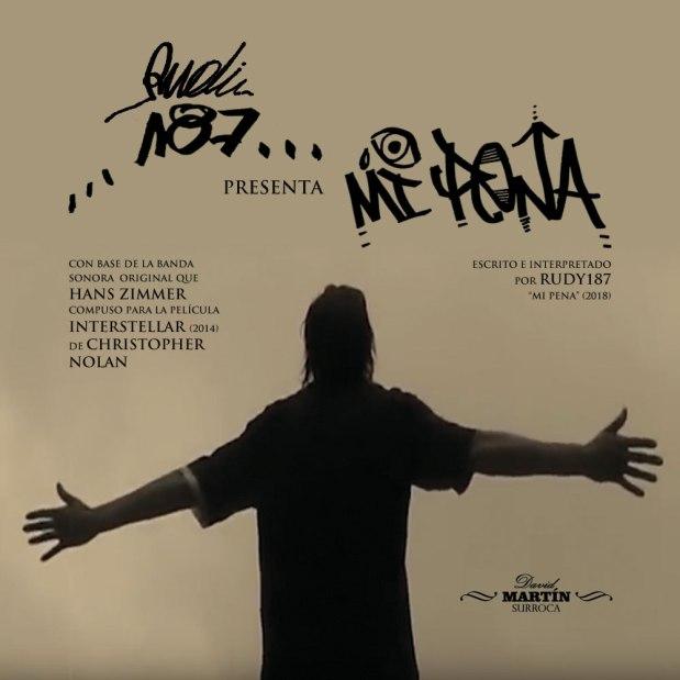 """Portada del nuevo tema de Rudy187 """"Mi pena""""(2018)"""